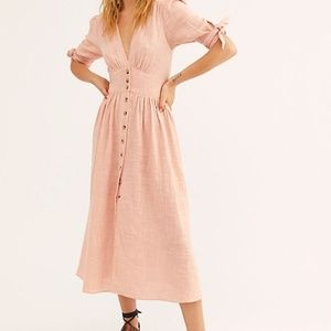 Free People Love Of My Life Midi Dress Dusty Rose